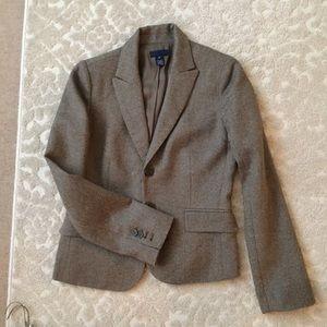 J. Crew Brown Tweed Suit